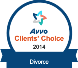 Avvo Client's Choice Award 2014 for Divorce