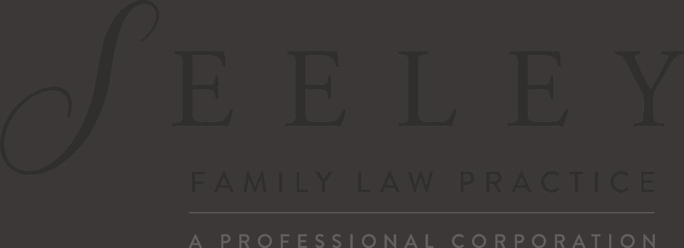 Seeley Family Law Practice Logo Horizontal Lockup Dark Gray Two Tone