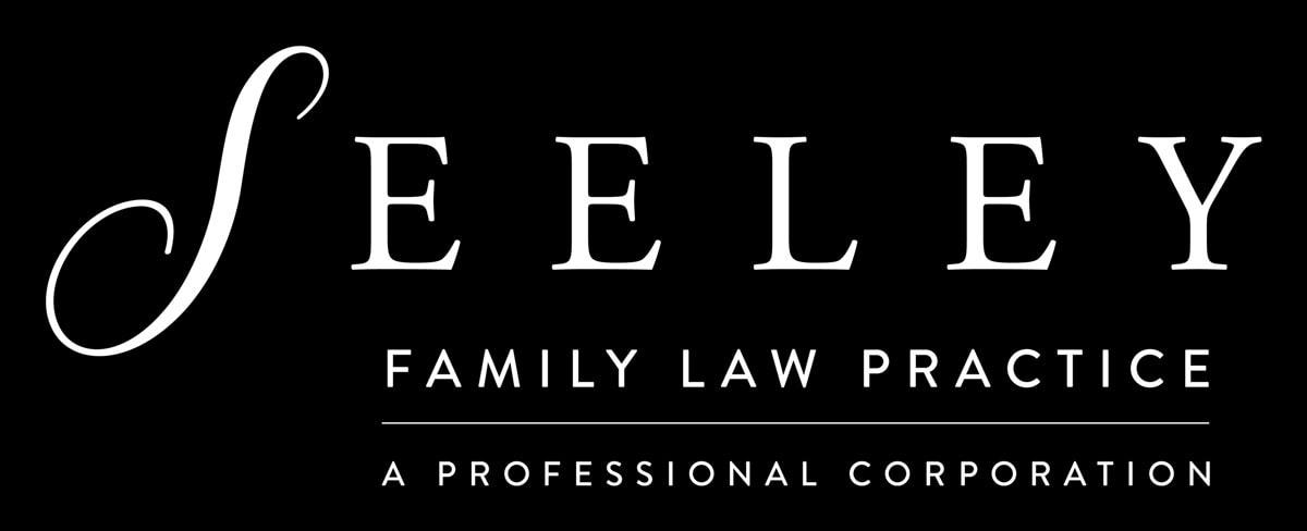 Seeley Family Law Practice Logo Horizontal Lockup White Monotone Dark BG